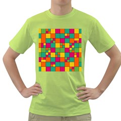 Squares Abstract Background Abstract Green T Shirt