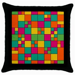 Squares Abstract Background Abstract Throw Pillow Case (black)