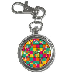 Squares Abstract Background Abstract Key Chain Watches