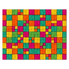 Squares Abstract Background Abstract Rectangular Jigsaw Puzzl