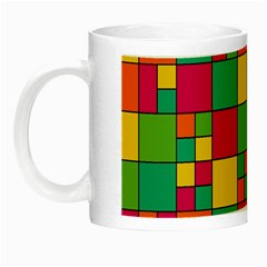 Squares Abstract Background Abstract Night Luminous Mugs