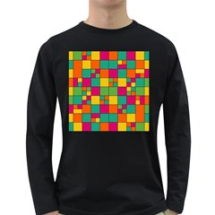 Squares Abstract Background Abstract Long Sleeve Dark T Shirts