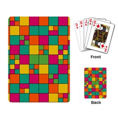 Squares Abstract Background Abstract Playing Card