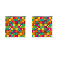 Squares Abstract Background Abstract Cufflinks (square)