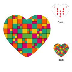Squares Abstract Background Abstract Playing Cards (heart)