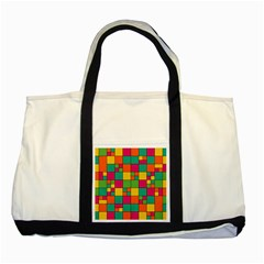 Squares Abstract Background Abstract Two Tone Tote Bag
