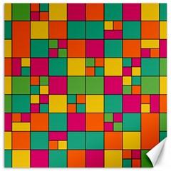 Squares Abstract Background Abstract Canvas 12  X 12