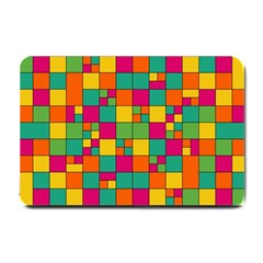 Squares Abstract Background Abstract Small Doormat