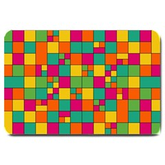 Squares Abstract Background Abstract Large Doormat