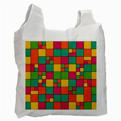 Squares Abstract Background Abstract Recycle Bag (one Side)