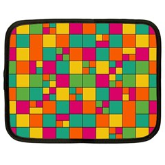 Squares Abstract Background Abstract Netbook Case (xl)