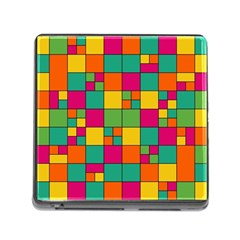 Squares Abstract Background Abstract Memory Card Reader (square)