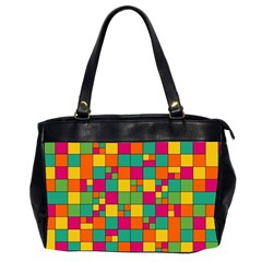 Squares Abstract Background Abstract Office Handbags (2 Sides)