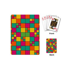 Squares Abstract Background Abstract Playing Cards (mini)