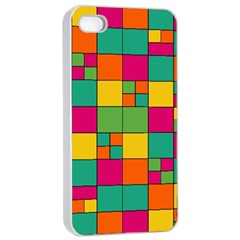 Squares Abstract Background Abstract Apple Iphone 4/4s Seamless Case (white)
