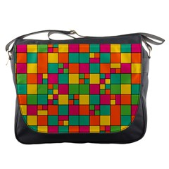 Squares Abstract Background Abstract Messenger Bags
