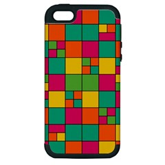 Squares Abstract Background Abstract Apple Iphone 5 Hardshell Case (pc+silicone)