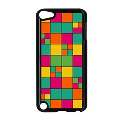 Squares Abstract Background Abstract Apple Ipod Touch 5 Case (black)
