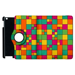 Squares Abstract Background Abstract Apple Ipad 2 Flip 360 Case