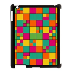Squares Abstract Background Abstract Apple Ipad 3/4 Case (black) by Nexatart
