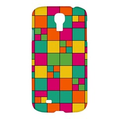 Squares Abstract Background Abstract Samsung Galaxy S4 I9500/i9505 Hardshell Case