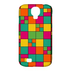 Squares Abstract Background Abstract Samsung Galaxy S4 Classic Hardshell Case (pc+silicone)