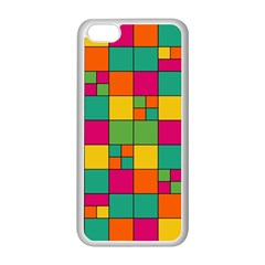 Squares Abstract Background Abstract Apple Iphone 5c Seamless Case (white)