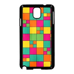 Squares Abstract Background Abstract Samsung Galaxy Note 3 Neo Hardshell Case (black)