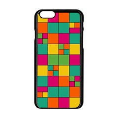Squares Abstract Background Abstract Apple Iphone 6/6s Black Enamel Case