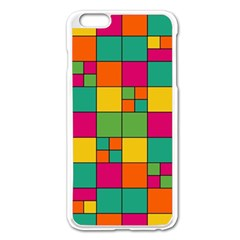 Squares Abstract Background Abstract Apple Iphone 6 Plus/6s Plus Enamel White Case
