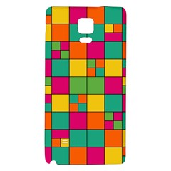 Squares Abstract Background Abstract Galaxy Note 4 Back Case