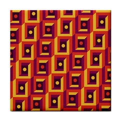 3 D Squares Abstract Background Tile Coasters