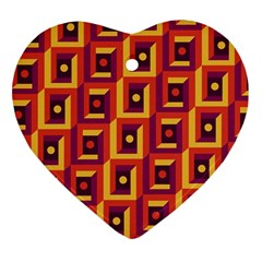 3 D Squares Abstract Background Ornament (heart)