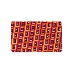 3 D Squares Abstract Background Magnet (name Card)