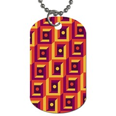 3 D Squares Abstract Background Dog Tag (one Side)