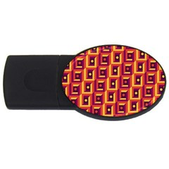 3 D Squares Abstract Background Usb Flash Drive Oval (2 Gb)