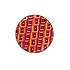 3 D Squares Abstract Background Hat Clip Ball Marker (4 Pack)