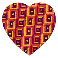 3 D Squares Abstract Background Jigsaw Puzzle (heart)
