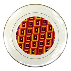 3 D Squares Abstract Background Porcelain Plates