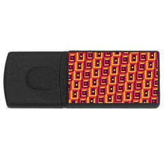3 D Squares Abstract Background Rectangular Usb Flash Drive