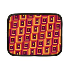 3 D Squares Abstract Background Netbook Case (small)