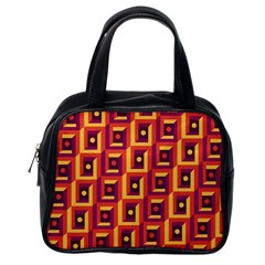 3 D Squares Abstract Background Classic Handbags (one Side)