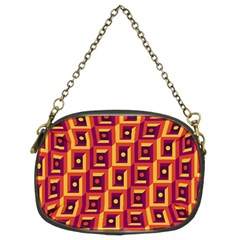 3 D Squares Abstract Background Chain Purses (two Sides)
