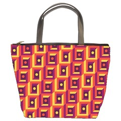 3 D Squares Abstract Background Bucket Bags by Nexatart