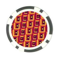 3 D Squares Abstract Background Poker Chip Card Guard (10 Pack)