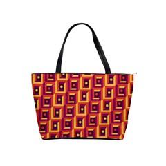 3 D Squares Abstract Background Shoulder Handbags