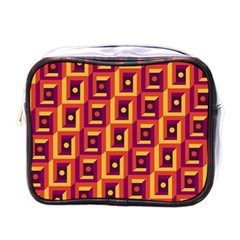 3 D Squares Abstract Background Mini Toiletries Bags
