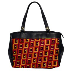3 D Squares Abstract Background Office Handbags