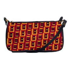 3 D Squares Abstract Background Shoulder Clutch Bags