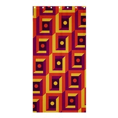 3 D Squares Abstract Background Shower Curtain 36  X 72  (stall)